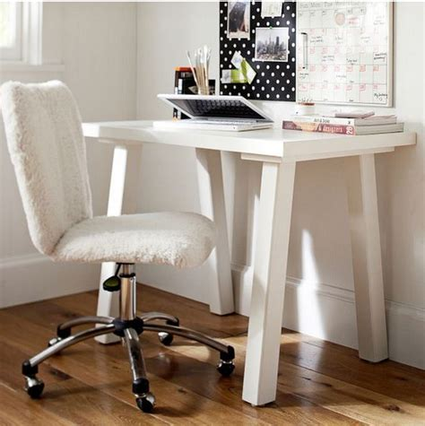 Fuzzy Desk Chair by Pbteen Fuzzy No Arm Rest Desk Chair College Chairs Desks And Desk Chairs
