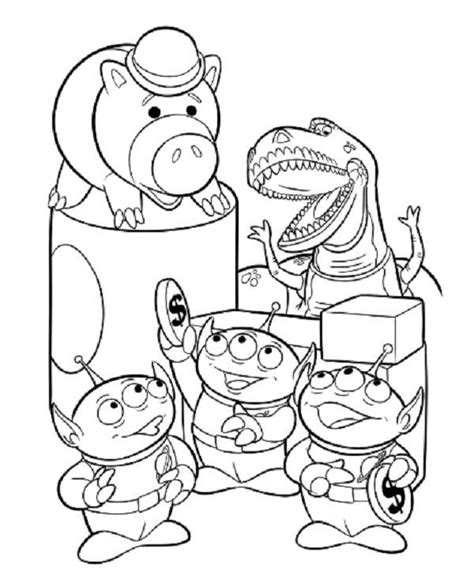 toy story the aliens coloring pages