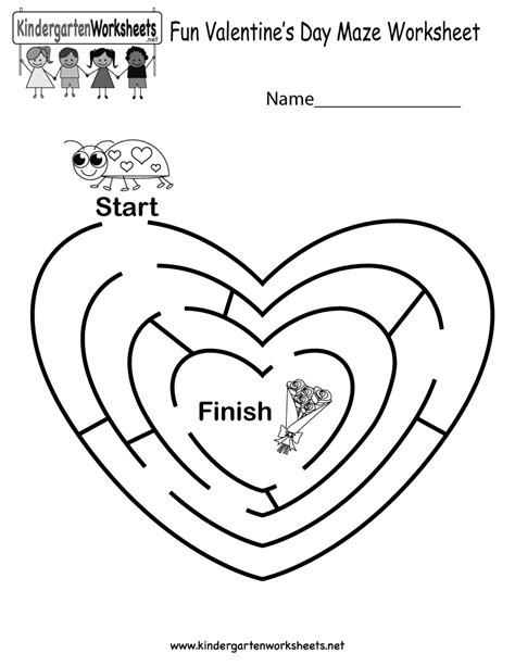 free printable preschool valentine worksheets free printable fun valentine s day maze worksheet for