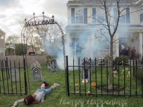 diy scary decorations outdoor smooky outdoor backyard house as scary decor