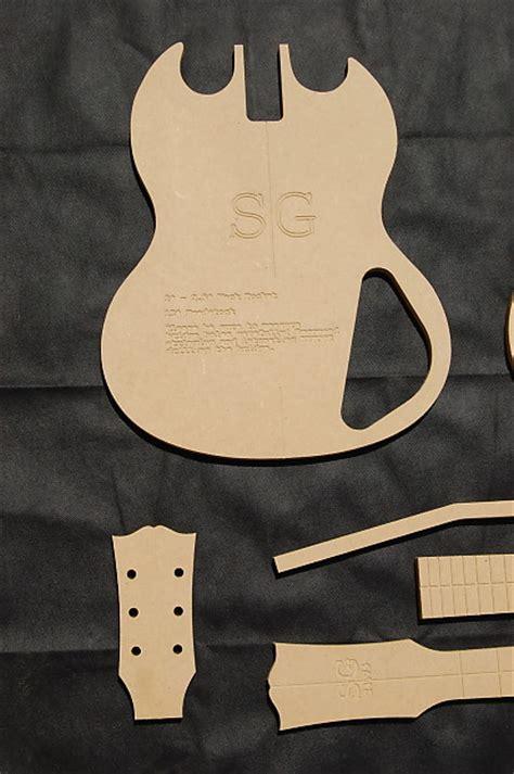 Guitar Router Templates sg guitar router template set 1 2 quot mdf cnc luthier