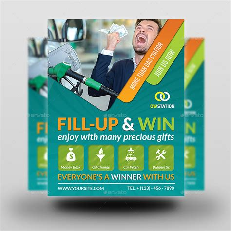 Gas Station Flyer Template Vol 2 By Owpictures Graphicriver Gas Station Website Template