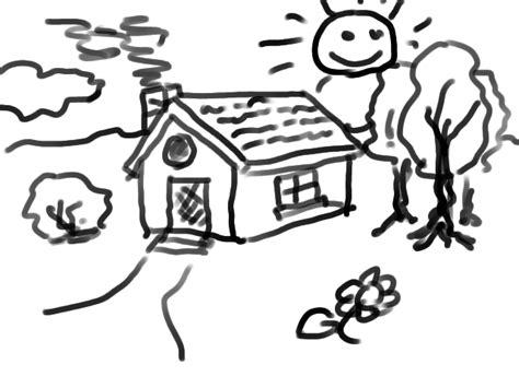 draw my house nicu s foss n stuff kindergarden drawing