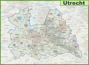 map of utrecht province with cities and towns