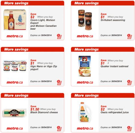 printable grocery coupons alberta metro quebec canada printable grocery coupons valid from