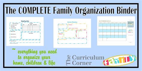 family organization the complete family organization binder