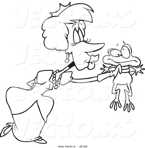 kissing frog coloring page royalty free stock designs of princesses