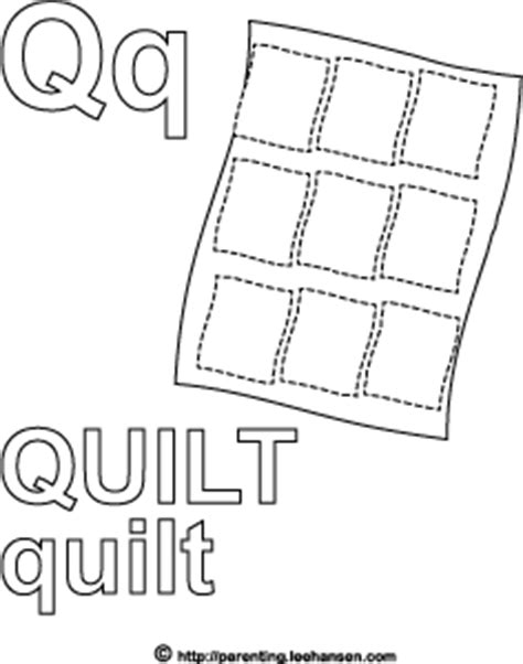 Q For Quilt Coloring Page by Letter Q Activity Page Quilt Alphabet Coloring Sheet