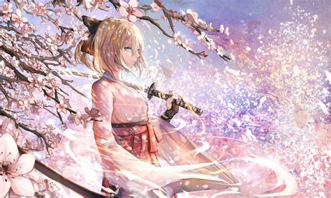 japanese series anime anime fate grand order saber cherry