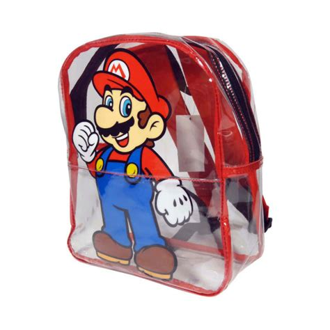 Bros Mini nintendo mario bros mario transparent mini backpack