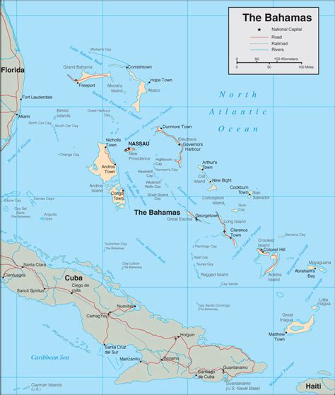 map of usa and bahamas bahamas map