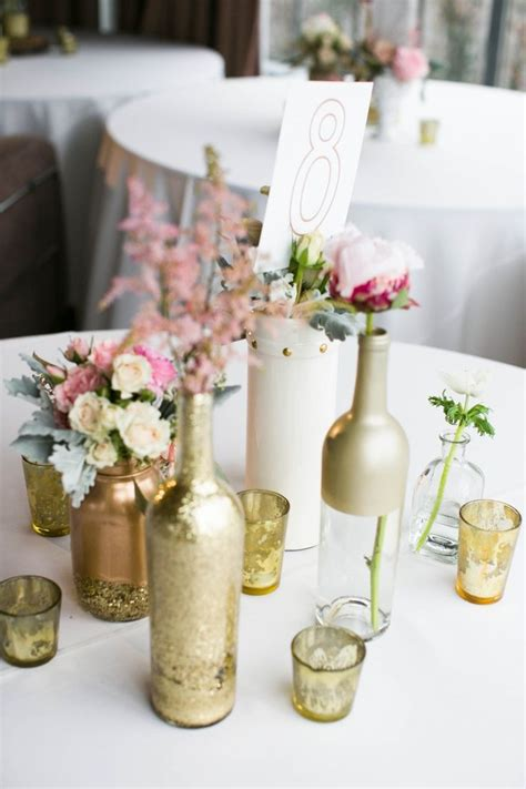 Handmade Centerpieces - diy vintage wedding ideas for summer and