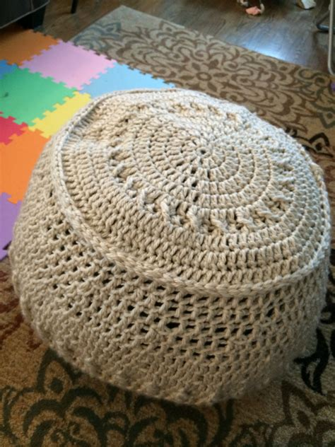 crochet pattern for bean bag chair crochet beanbag chair leah homemade
