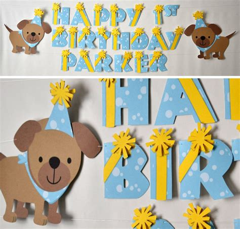 puppy decorations puppy birthday banner puppy baby shower