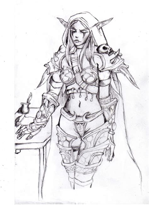 how to draw sylvanas lady sylvanas drawing related keywords suggestions lady sylvanas drawing long tail keywords