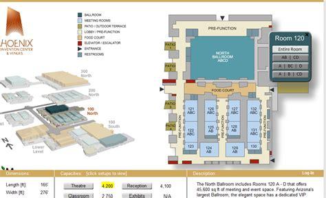 phoenix convention center floor plan phoenix convention center north building floor plan