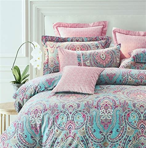 bohemian chic bedding bright colorful boho chic bedding brushed cotton paisley