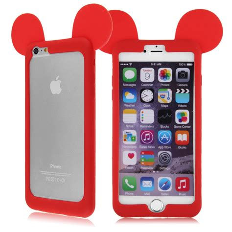 funda bumper iphone 5s bumper funda carcasa silicona mickey mouse orejas cover