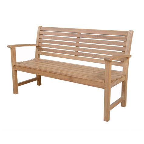 teak patio bench shop anderson teak victoria 26 in w x 59 in l natural teak