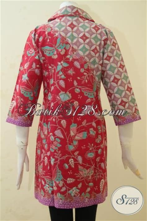 Desain Baju Batik Bagus | pakaian dress batik merah desain bagus dan mewah baju