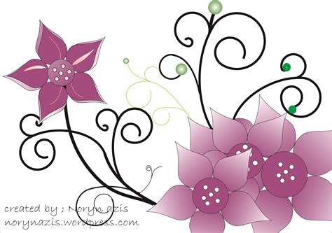gambar desain bunga bunga tugas ujian praktek ketrilan tik man 2 wates