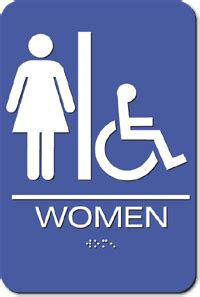 women s bathroom logo women s wheelchair accessible bathroom sign blue 6 quot x 9