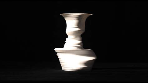 Vase Or Face Your Face In A Vase Custom 3d Printed Vessels Containing