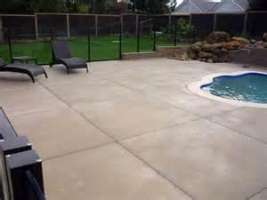 Cut Concrete Patio by Concrete Pool Patios Blundell Concrete