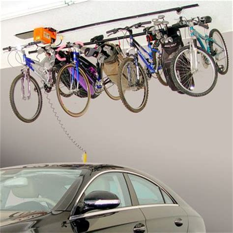 Garage Bike Lift by Bicycle Overhead Storage Overhead Bike Lift Ideas For