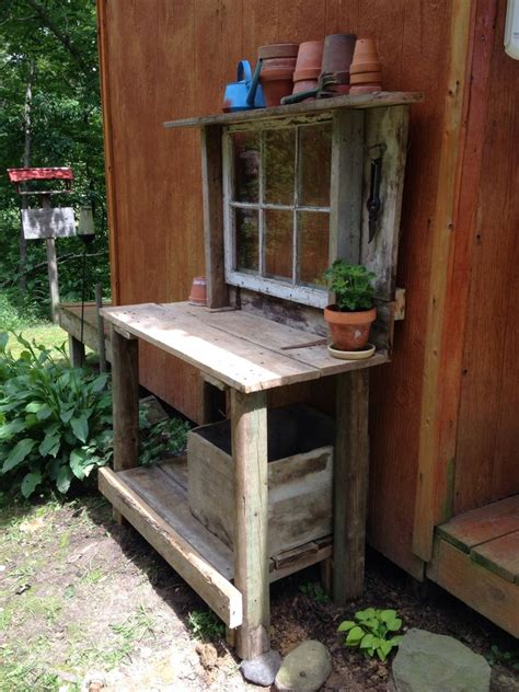 indoor potting bench salvage potting bench table salvage ideas pinterest