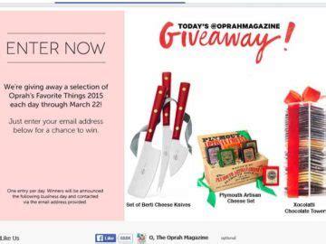 Oprah Favorite Things Giveaway - oprah s favorite things facebook giveaway sweepstakes