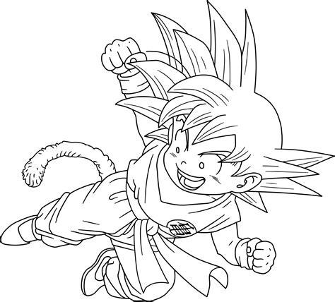 dragon ball kid goku 18 dragon box lineart by