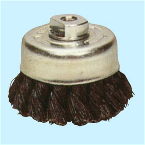 wire twist caps steel wire twist cap brush sun power cup brush monotaro