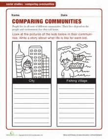 comparing communities worksheet education com
