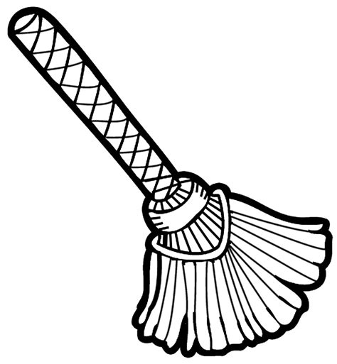 broom tree coloring page broom clipart black and white clipart panda free