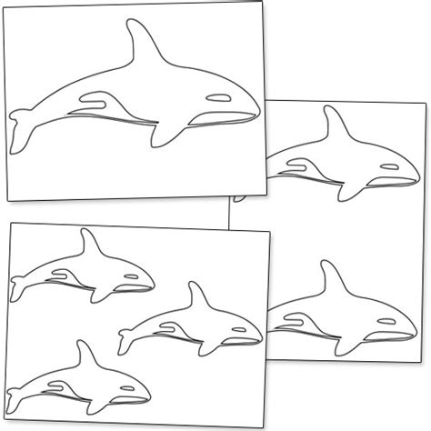 printable whale templates printable killer whale shapes from printabletreats com