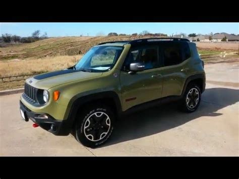 trailhawk jeep green all new commando green 2015 jeep renegade trailhawk 4x4