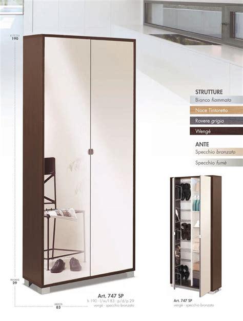 armadio portascarpe armadio portascarpe con griglia e ripiani cod 747sp www