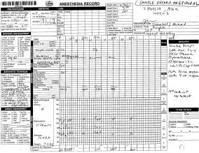 Anesthesia Record Form Template by Ob Anesthesia Survival Guide Stony Brook