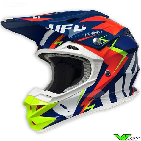 ufo motocross helmet ufo 2017 interceptor 2 mx helmet blue fluo yellow