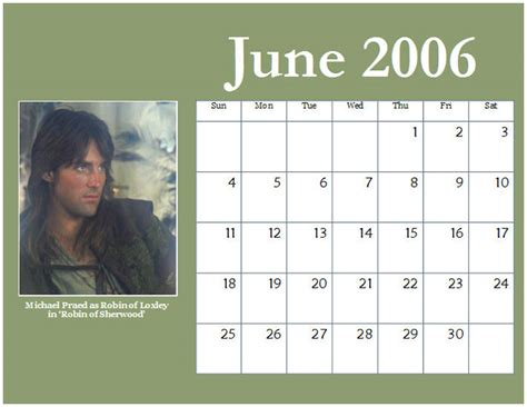 Calendar For 2006 Michael Praed Chest Hair Moments 2006 Calendars