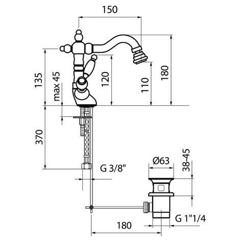 bidet dimensions do710401 bidet mixer dimensions bacera