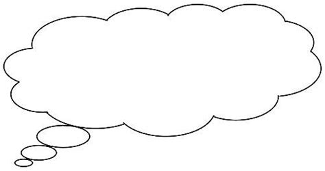 thought template printable thinking bubbles clipart best