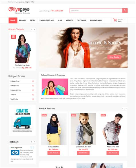 template toko online dengan php source code toko online dengan php mysql download