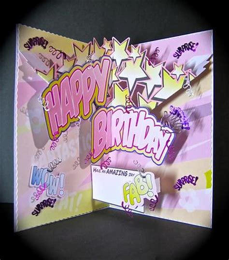 How To Make A Cool Pop Up Birthday Card Birthday Girl Comic Style Pop Up Cup392902 1532