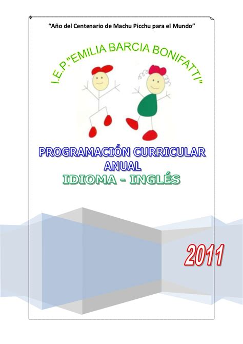 programacion anual con las rutas de aprendizaje 2016 programacion curricular anual ingl 233 s