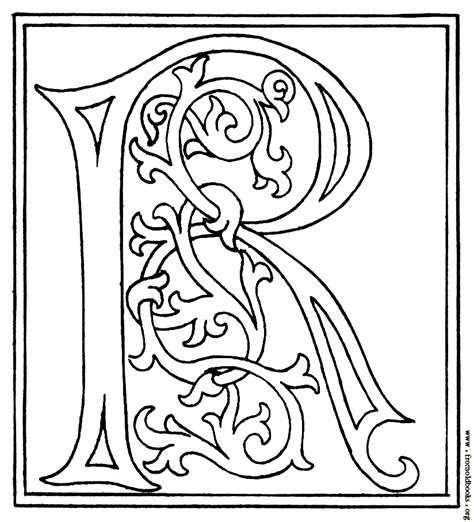 medieval alphabet coloring pages free coloring pages of illuminated letter a