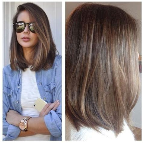 mid length hair cuts longer in front best 25 haircuts ideas on pinterest