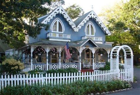 picture blue cottage fairytale cottages