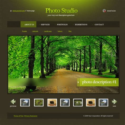 ever green html template 5485 art & photography